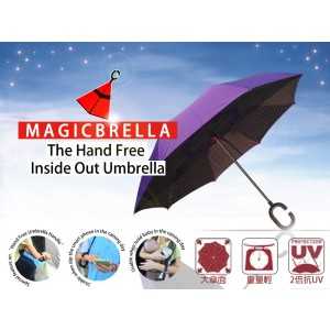 Hands Free Reverse Folding Umbrella